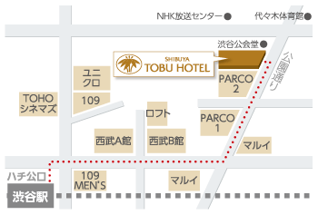 東武ホテルaccess walk map